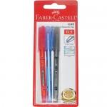 FABER-CASTELL CX5 BALLPEN B/C OF3 B,BL,R 0.5-246608