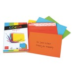 Elco Color C6 Envelope assorted without window, adhesive closure