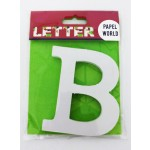 """Wooden Letters White """"B"""""""