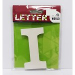 """Wooden Letters White """"I"""""""