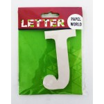 """Wooden Letters White """"J"""""""
