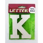 "Wooden Letters White ""K"""
