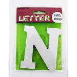 """Wooden Letters White """"N"""""""