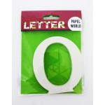 """Wooden Letters White """"O"""""""