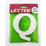 """Wooden Letters White """"Q"""""""