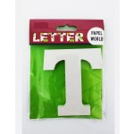 """Wooden Letters White """"T"""""""