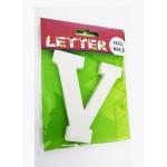 """Wooden Letters White """"V"""""""