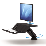 Fellowes LOTUS RT SIT-STAND WORKSTATION - BLACK / GREY