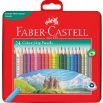 FABER-CASTELL COLOUR GRIP 24LONG IN TIN CASE
