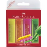 FABER-CASTELL Super-Fluorescent Highlighter Wallet of 4