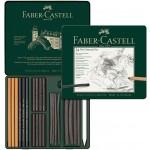 FABER-CASTELL PITT Charcoal set tin of 24