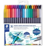 Staedtler 3001-TB36 Marsgraphic Double Ended Watercolor Brush Markers 36/Pkg