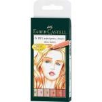 "FABER-CASTELL PITT Artist Pen ""Skin tones"" Wallet of 6 pens"
