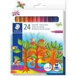 Staedtler Noris Fiber tip Pen cardboard Set of 24 Color (325-C24)