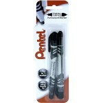 Pentel N75W Twin Tip Marker Blister pack of 2