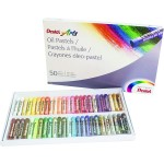 Pentel PHN-50AM Oil Pastel Set 50 Color-New Packing
