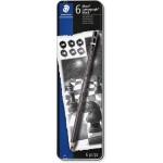 Staedtler 100B-G06 Mars Lumograph Pencil Black Set 6pc