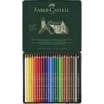 FABER-CASTELL Polychromos Artists Color Pencils Tin of 24 color
