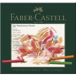 FABER-CASTELL Polychromos Artists Color Pastels Cardboard Box of 24colors