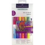 FABER-CASTELL Water sol.crayons Gelatos Brights set 15 parts