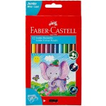 FABER-CASTELL Colour Pencil Jumbo 12 with sharpener