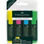 FABER-CASTELL Classic Highlighter Wallet of 4 (Y+B+P+G)