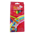 Funbo Coloring Pencil Cylinder Set of 12 Colors