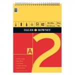 Daler Rowney Sketching Spiral Pad 25sht 150gsm Cartridge Paper (Red & Yellow) A2