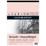 Daler Rowney Sketching Smooth Heavyweight Cartridge Pad (25sht/220gsm) A3