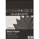 Daler Rowney Canford Black Pad 32sht 150gsm A3