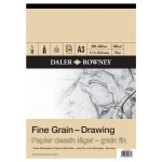 Daler Rowney Sketching Fine Grain Drawing Pad (30sht/120gsm) A3