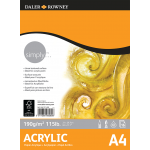 Daler Rowney Simply Acrylic Pad 16sht 190gsm A4