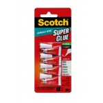 Scotch Super Glue Gel AD119. 0.017 oz each (0.48gr.). Small tubes for single use, 4 tubes/pack