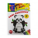 Copy Colouring Book of Cool Cartoons