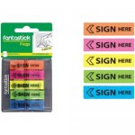 Fantastick Sign Here Flags  45x25mm Blisters