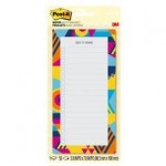 Post-it Printed Notes Gradient design BC-LIST-GRDNT. 4 x 8 in (101 mm x 203 mm), 50 sheets/pad, 1 pad/pack. Lined
