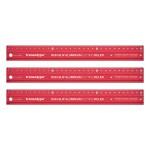 TRANSOTYPE - NON SLIP ALUMINIUM CUTTING RULER -30 X 3.5 CM