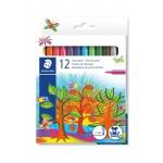 Staedtler Noris Fiber tip Pen cardboard Set of 12 Color (325-C12)
