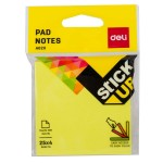 Deli Flip Sticky Notes 76x76mm 3''x3'' 4x25 sheets 4 Neon Color