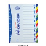 Dividers PVC (1-15) A4 Colour with number