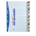 Divider (PVC) 1-20 colour / number A/4