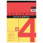 Daler Rowney Red & Yellow Sketch Pad A4