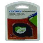 DYMO TP 12MMX4M PAPER WHT (91200)