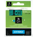 Dymo Labelling Tapes (12mmx7m) D1 Black Printing on Green lable -45019