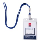 Deli PVC Lanyard Name Badge Vertical 68×95mm
