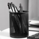 Deli Mesh Pen Holder φ84x106mm