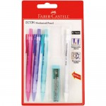FABER-CASTELL Econ Mechanical Pencil 0.7mm in B/CARD of 4 +1LeadTube
