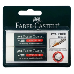FABER-CASTELL PVC Free Eraser w Sleeve (2pc Blister)-188537