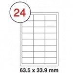 Formtec Label 2400/64.6x33.8mm #24 Box of 100 Sheets