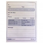 While You Were Out Message Pad - FIS